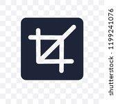 crop transparent icon. crop... | Shutterstock .eps vector #1199241076