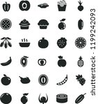 solid black flat icon set... | Shutterstock .eps vector #1199242093