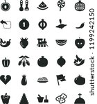 solid black flat icon set... | Shutterstock .eps vector #1199242150
