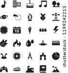 solid black flat icon set... | Shutterstock .eps vector #1199242213