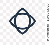 paganism vector icon isolated... | Shutterstock .eps vector #1199242720