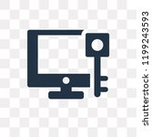 keywords vector icon isolated... | Shutterstock .eps vector #1199243593