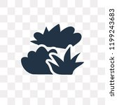 bush vector icon isolated on... | Shutterstock .eps vector #1199243683