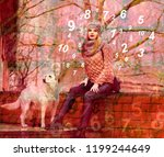 life in the world of numerology | Shutterstock . vector #1199244649