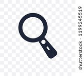 loupe transparent icon. loupe... | Shutterstock .eps vector #1199245519