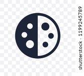last quarter transparent icon.... | Shutterstock .eps vector #1199245789