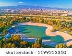 bundek lake and city of zagreb... | Shutterstock . vector #1199253310