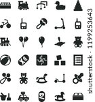 solid black flat icon set toys... | Shutterstock .eps vector #1199253643