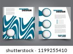 square flyer template. simple... | Shutterstock .eps vector #1199255410