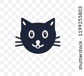 cat transparent icon. cat... | Shutterstock .eps vector #1199255803