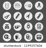measuring tools web icons... | Shutterstock .eps vector #1199257606