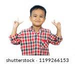 happy  asian boy showing a...   Shutterstock . vector #1199266153