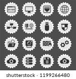 hosting provider web icons... | Shutterstock .eps vector #1199266480