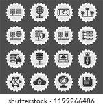 hosting provider web icons... | Shutterstock .eps vector #1199266486