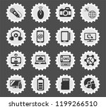 hi tech web icons stylized... | Shutterstock .eps vector #1199266510