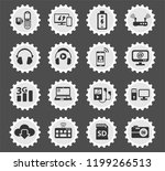 hi tech web icons stylized... | Shutterstock .eps vector #1199266513