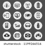 hi tech web icons stylized... | Shutterstock .eps vector #1199266516
