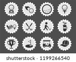 golf web icons stylized postage ... | Shutterstock .eps vector #1199266540