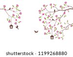 beautiful tree branch with... | Shutterstock . vector #1199268880