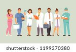 group of medical workers.... | Shutterstock .eps vector #1199270380