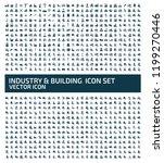 industrial vector icon set | Shutterstock .eps vector #1199270446