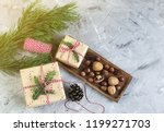 christmas gift boxes decoration ... | Shutterstock . vector #1199271703