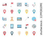 Map And Pin Isolated Vector...