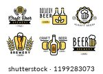 craft beer logo set  vintage... | Shutterstock .eps vector #1199283073
