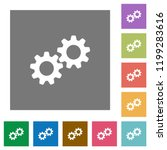 collaboration flat icons on... | Shutterstock .eps vector #1199283616