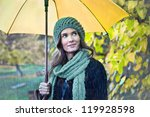 Woman With Yellow Umbrella...