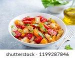 panzanella  traditional italian ... | Shutterstock . vector #1199287846