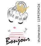 glitter crown girl   Shutterstock .eps vector #1199293426