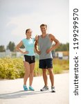 fitness  sport and lifestyle... | Shutterstock . vector #1199299570