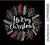 merry christmas hand lettering... | Shutterstock .eps vector #1199300830
