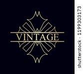 ornament logo design template... | Shutterstock .eps vector #1199303173