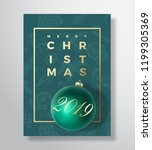 merry christmas abstract vector ... | Shutterstock .eps vector #1199305369