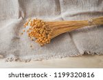 A Bouquet Of Dried Linen On A...