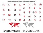 training icon . set of a... | Shutterstock .eps vector #1199322646