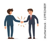 two businessman are shaking... | Shutterstock .eps vector #1199324809