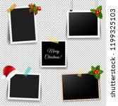 christmas photo frame set with... | Shutterstock .eps vector #1199325103
