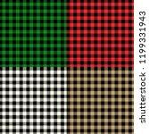 tartane backgrounds set | Shutterstock . vector #1199331943