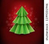 merry christmas postcard  | Shutterstock . vector #1199331946