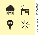 electricity icon. electricity... | Shutterstock .eps vector #1199340706