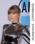 Small photo of Taylor Swift at the 2018 American Music Awards held at the Microsoft Theater in Los Angeles, USA on October 9, 2018.