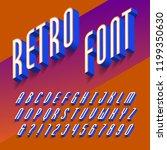3d retro alphabet font. three... | Shutterstock .eps vector #1199350630