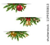 christmas garland set white... | Shutterstock . vector #1199350813