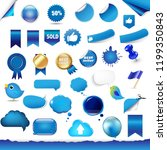 big set from symbols and... | Shutterstock . vector #1199350843