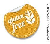 gluten free sticker isolated... | Shutterstock . vector #1199350876