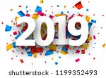 white 2019 new year background... | Shutterstock .eps vector #1199352493