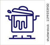cooking icon pan. | Shutterstock .eps vector #1199353930